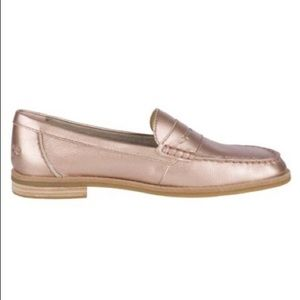 Rose Gold Seaport Leather Penny Loafer - Sperry